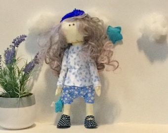 Handmade Fabric Doll Art Gift