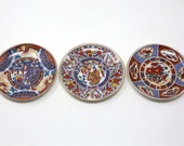 1970 39 s Japanese Imari Mini Decorative Wall Plates - Set of 3