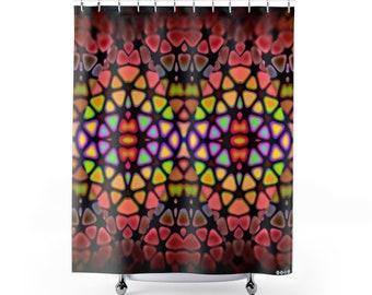 11818 Gemoelichkeitin Shower Curtains