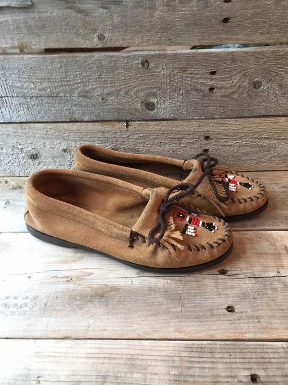 Women's Minnetonka Beaded Slippers