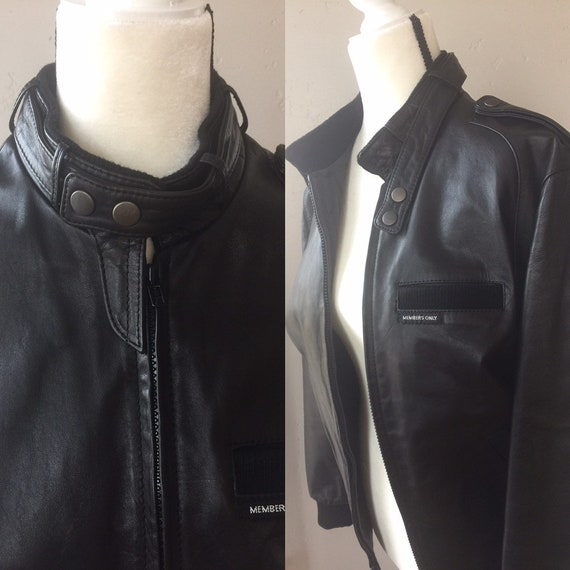 Vintage Leather Members Only Jacket