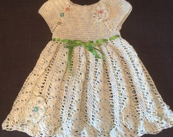 Lime baby dress