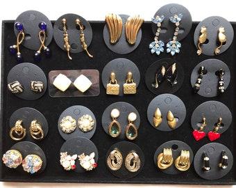 99e0b566e6a Vintage earrings, Balmain,ASK, Vouguebijoux lot of 20 pairs