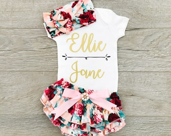 a13a4e7bf Newborn Girl Coming Home Outfit, Take Home Outfit, Newborn Outfit, Going  Home Outfit Girl, Hospital Outfit Baby Girl, Newborn Outfit Girl