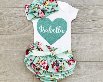 5ae106a43665 Newborn girl coming home outfit