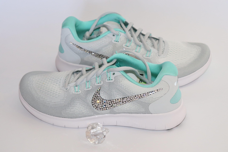 Nike Running Sneakers Swarovski Crystal Bling Sneakers  dc782185b28b