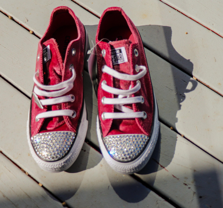 Unisex Converse All  Star Sneakers, Suede Converse,  All Rhinestone Bling Sneakers, Swarovski Crystal Sneakers, Walking Shoes, Unisex Sneakers d13c78