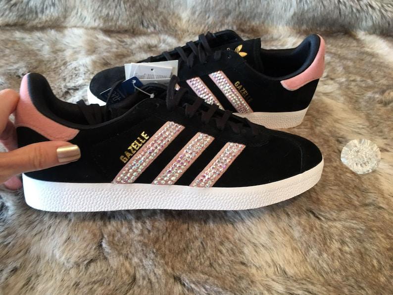 10f8812db Adidas Gazelle Sneakers Swarovski Crystal Bling Sneakers