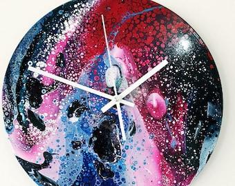 Acrylic high gloss clock.