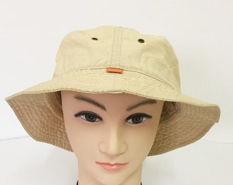 Vintage STUSSY Logo Bucket Hat Made In Taiwan Brown Color Stussy  Skateboards Size L XL Large X large Skateboarding Powell Peralta Cap Hat 25a101ea34cf