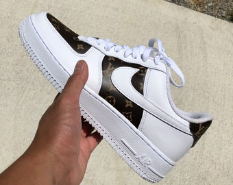 80085ad98055 Louis Vuitton Air Force 1 Custom Nike Designer Shoes Louis Vuitton Inspired