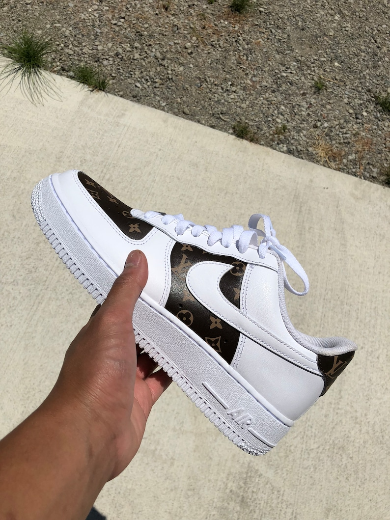save off 40f7a 26101 Louis Vuitton Air Force 1 Custom Nike Designer Shoes Louis   Etsy nike air  force 1