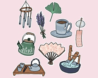 calm and relaxed sticker pack