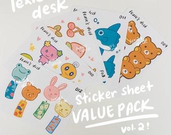 sticker sheet value pack vol. 2