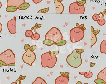 fruit friends sticker sheet