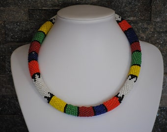 Traditional tribal rope necklace