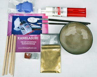 DIY: Kintsugi Started Kit with handcraft bowl.