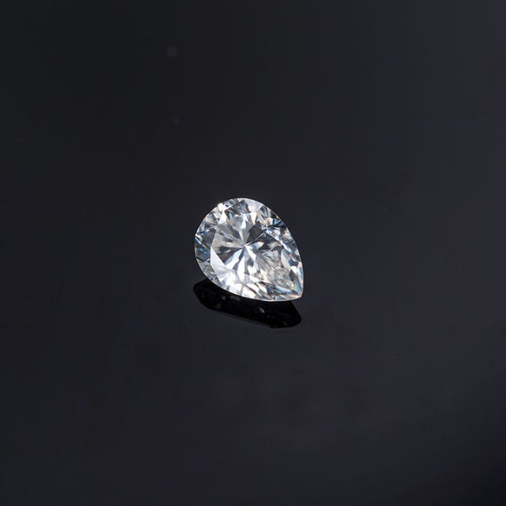 9 X 6 MM 1.35 Carat Full White Pear Tear Drop Cut Loose Moissanite for Ring