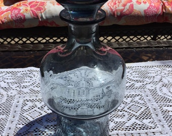 Vintage smoked glass decanter