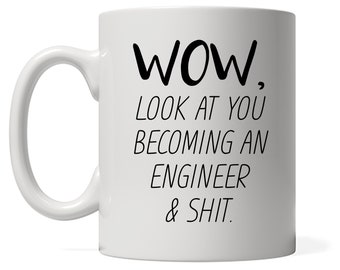 Funny Engineer Mug, Look At You Becoming A Engineer, Funny Engineer Gift, Funny Engineer Mug, Custom Engineer Gift, Personalized Engineer