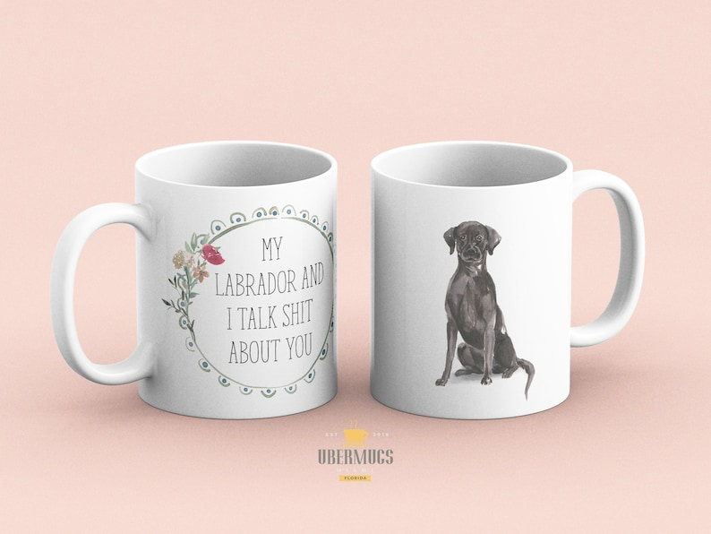 My Black Labrador and I talk shit about you Black Lab Gift image 0