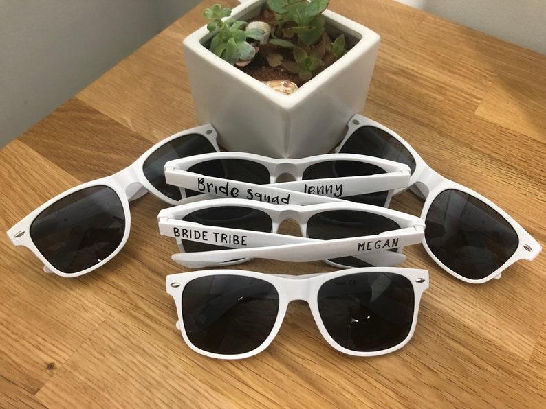 Personalized White  Wedding Sunglasses White Custom Bride image 0