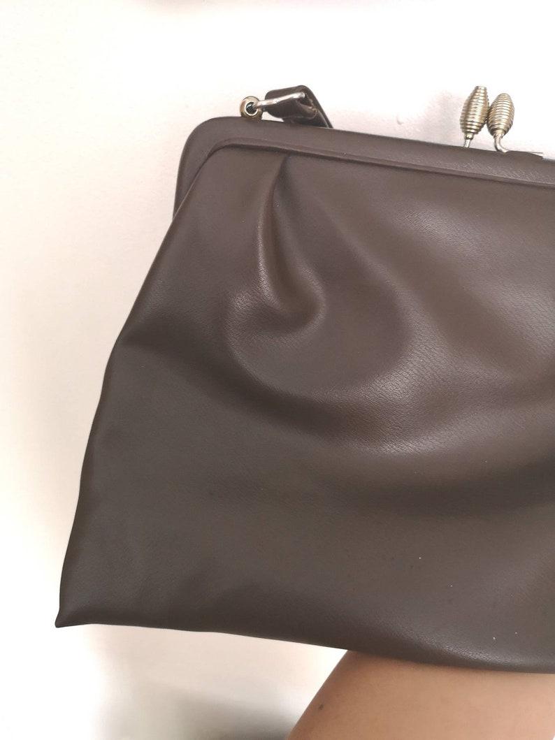 Vintage Goldpoint 1960s Brown top handle bag