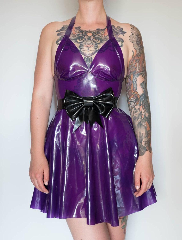 b6c7f3ca1c Latex rubber skater dress neck holder cute latex dress etsy jpg 1140x1501 Rubber  skater dress