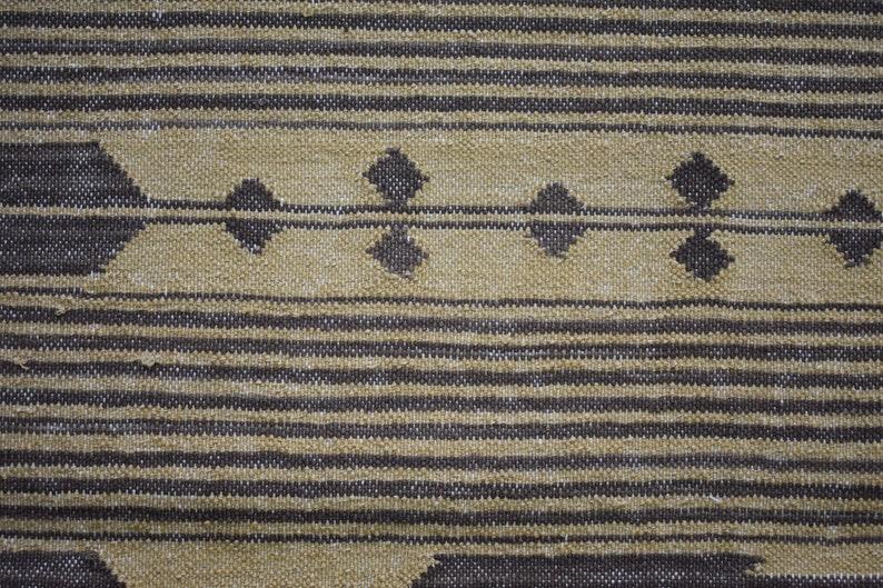 Beige /& Brown Cotton Kilim Area Rug Striped Design Modern Rug Bohemian Traditional Home Decorative Flat Woven Rug  4x6 Feet