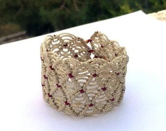 Double stream bracelet / Macrame / Boho style / Summer bracelet / Gift for her
