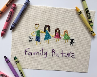 Child's Artwork Cross Stitch