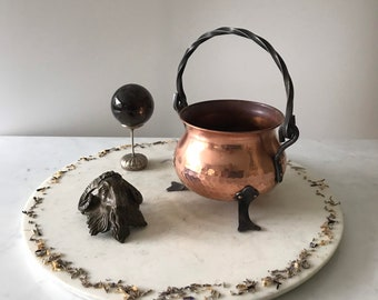 Witches Vintage Copper Cauldron, Witch Kit, Altar and Sacred Space.
