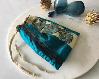Tarot Bag, Divination, Pre Owned, UK handmade, Oracle Deck Bag, Witch Kit,