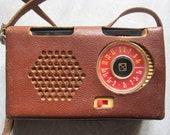 1x Soviet USSR Vintage Radio quot Gauja quot 1961 year Passport Leather Case