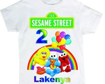 Baby Sesame Street Birthday Shirt