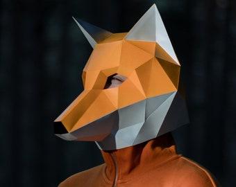Fox Mask Pattern Etsy