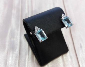 Topaz earrings, blue topaz earrings, topaz, blue topaz, zircon earrings