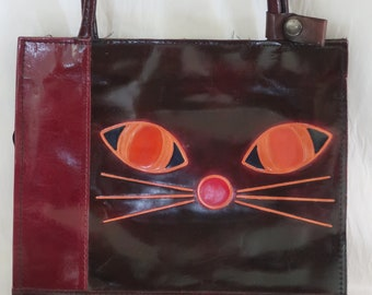 65ea712cbf Leather cat purse