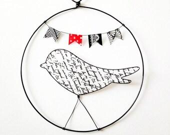 Wire bird decoration