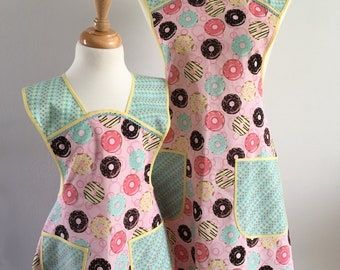 Mother and Daughter Donut Apron