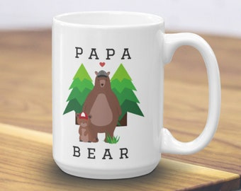 Papa Bear Mug, New Dad Gift, Bear Mugs, Pregnancy Mug, Papa Bear Gift, Paternity Gift, New Dad Mug, Bear Mug, Dad To Be Mug, Mug For Dad