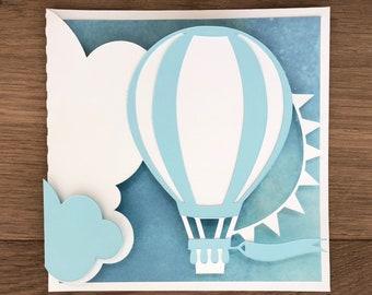 Handmade Hot Air Balloon Card Customizable