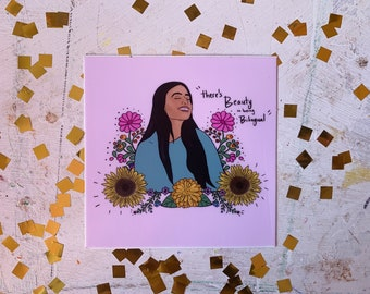Vinyl Sticker | Theres beauty in being bilingual