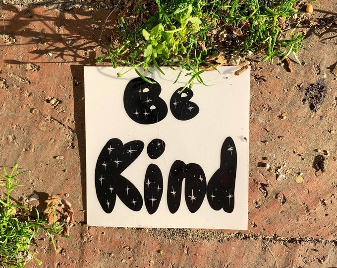 Featured listing image: Vinyl Sticker (Clear) | Be Kind