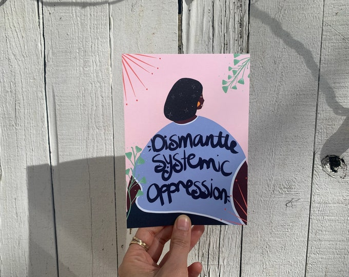 Featured listing image: Art Postcard | Dismantle Systemic Oppression