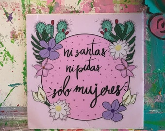 Vinyl Sticker | Sólo Mujeres