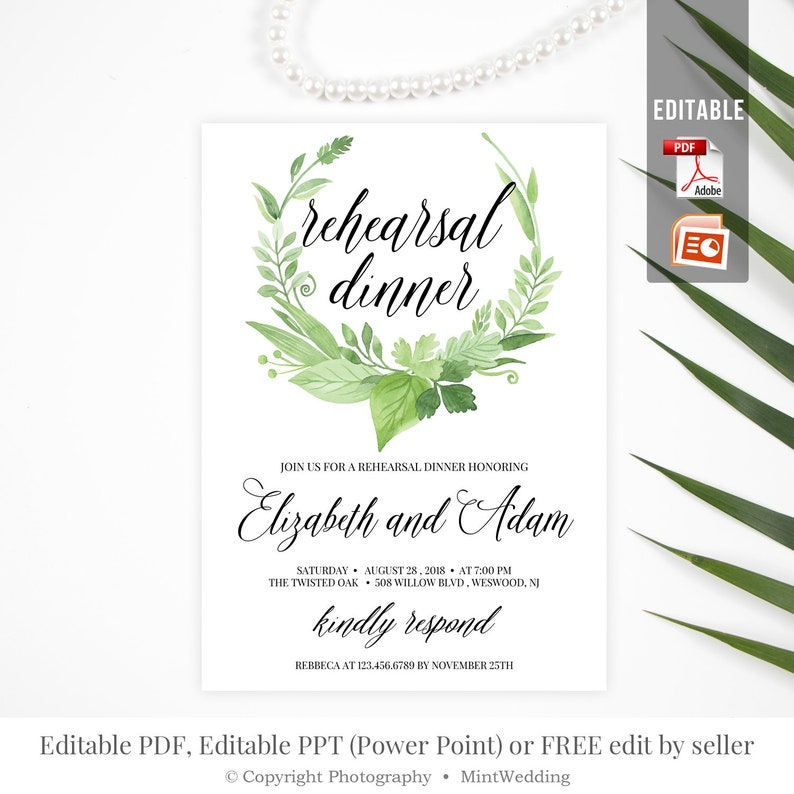 It is a graphic of Free Printable Rehearsal Dinner Invitations intended for dinner party