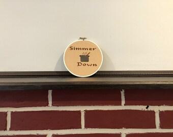 Simmer Down Cross Stitch