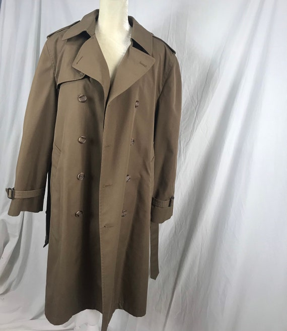 Vintage Stafford Lined Trench Coat/ Rain Coat/ Dus