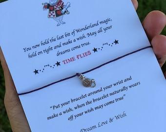 Wish bracelers inspired alice in wonderland white friendship bracelers graduation